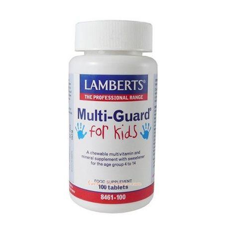 LAMBERTS – MULTI-GUARD® FOR KIDS (MULTRINUTRIENTES PARA NIÑOS DE 4 A 14 AÑOS)