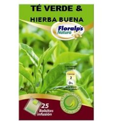 FLORALP'S NATURA - SPEARMINT & GREEN TEA (Toning & Digestive infusion)