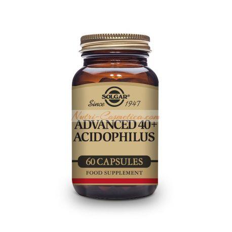 SOLGAR-40+ ACIDOPHILUS AVANZADO (NO LACTEO) 60 Caps.